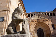 Collegiate church of Santa Juliana, Santillana del Mar. Cantabria, Spain Royalty Free Stock Images