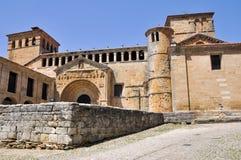 Collegiate church in Santillana del Mar, Spain Royalty Free Stock Image