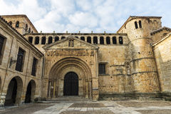 Collegiate Church of Santillana del Mar, Spain. Collegiate Church of Santillana del Mar in the medieval village of Santillana del Mar in Cantabria, Spain Stock Photography