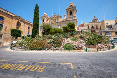 The Collegiate church of St Lawrence in Birgu, Malta Stock Images