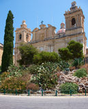 The Collegiate church of St Lawrence in Birgu, Malta Royalty Free Stock Photos