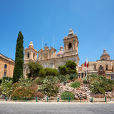The Collegiate church of St Lawrence in Birgu, Malta Stock Photography