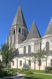 Saint Oars Church, Loches. Collegiate church of St Oars in Loches, France Royalty Free Stock Photos