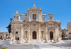 The Collegiate Church of St Paul in Rabat, Malta Royalty Free Stock Image