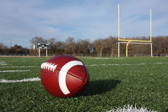 Collegiate Football On The Field Royalty Free Stock Photography