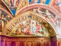 Collegio del Cambio,历史大厦内部在佩鲁贾 免版税库存图片