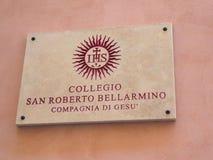 Collegio San Roberto Bellarmino foto de stock royalty free