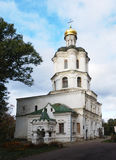 Collegium building with church in Chernigiv Ukrain. Collegium building with church in Chernigiv. Ukraine. Sky with clouds Stock Image
