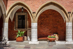Collegium Maius arches, Krakow Royalty Free Stock Images