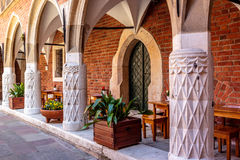 Collegium Maius cafe, Krakow Stock Photo