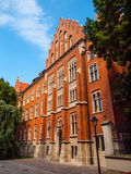 Collegium Witkowskiego of Jagiellonian University. Red brick medieval building of Collegium Witkowskiego of Jagiellonian University in Krakow,Poland Royalty Free Stock Images