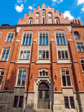 Collegium Witkowskiego of Jagiellonian University. Red brick medieval building of Collegium Witkowskiego of Jagiellonian University in Krakow,Poland Stock Photos