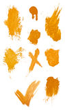 Collegtion of grungy paint strokes. Stock Images