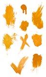 Collegtion van grungy verfslagen. stock afbeeldingen