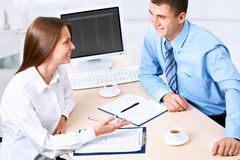 Collegues. Business team working at office Stock Photo