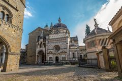 Colleoni教堂教会和陵墓,贝加莫,意大利 免版税图库摄影