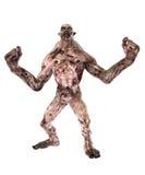 Collera del diavolo dello zombie Fotografia Stock Libera da Diritti