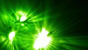 Collera del mostro con gli occhi luminosi e una bocca nei colori verdi illustrazione vettoriale