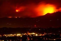 Collere di incendio violento del canyon di Fourmile fotografie stock libere da diritti