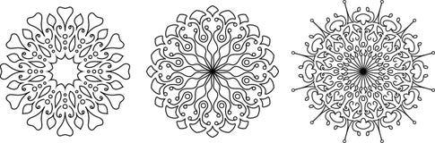 Collestion floreale dei modelli illustrazione vettoriale