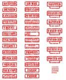 Colletction de tampon en caoutchouc Images libres de droits