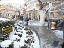 Colletctive street part in Thessaloniki royalty free stock photos