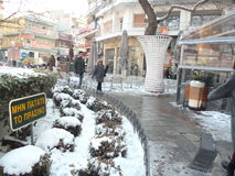 Colletctive uliczna część w Saloniki Zdjęcia Royalty Free