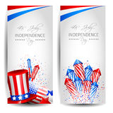 Colletion of Vector Independence Day Cards Royalty Free Stock Image