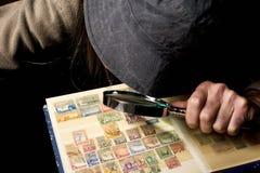 Collettore del francobollo Immagini Stock Libere da Diritti