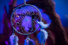 Collettore di sogno su una foresta alla notte Fotografie Stock Libere da Diritti