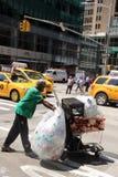 Collettore New York dei rifiuti Immagine Stock Libera da Diritti