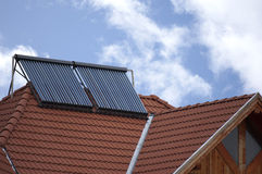 Collettore solare termico della valvola elettronica Immagine Stock Libera da Diritti