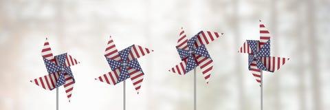 Collettori del vento di U.S.A. davanti a luce intensa fotografia stock libera da diritti