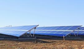 Collettori solari Immagine Stock