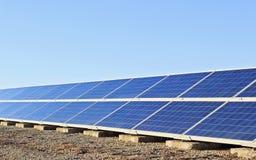 Collettori solari Immagini Stock