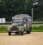 Colleville sur mer, Normandië, 4 Juni 2014: ziekenwagen het militaire aanwezig zijn bij vieringen voor 70ste verjaardag van D-dag royalty-vrije stock afbeelding