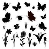 Collezione primaverile isolata farfalla Fotografia Stock