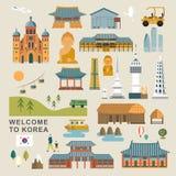 collezioni adorabili della Corea del Sud illustrazione di stock