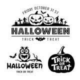 Collezioni in bianco e nero di progettazione di Halloween royalty illustrazione gratis