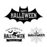 Collezioni in bianco e nero felici di progettazione di Halloween illustrazione di stock