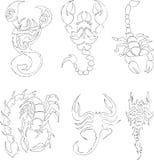 Collezioni degli scorpioni illustrazione di stock