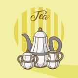 Collezioni dei bollitori di tè royalty illustrazione gratis