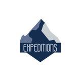 Collezioni dei distintivi di logo di avventura e di spedizione della montagna Il viaggio simbolizza il vettore illustrazione vettoriale