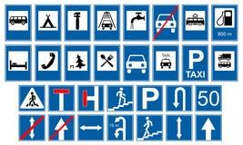 Collezioni dei segni di traffico stradale Fotografia Stock