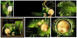 Collezioni del fondo di Buon Natale royalty illustrazione gratis
