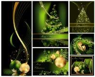 Collezioni del fondo di Buon Natale illustrazione di stock