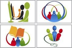 collezioni del logos di comunicazione illustrazione di stock