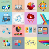 Collezioni del modello di Infographic con molti elementi differenti di progettazione illustrazione di stock