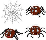 Collezioni del ragno del fumetto messe illustrazione di stock