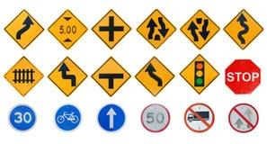 Collezioni del segnale stradale Fotografia Stock Libera da Diritti